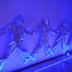 """Zdjęcie przedstawia fragment ekspozycji """"Méliès – magia obrazu"""" w ramach Tarnogórskiego Festiwalu Science-Fiction"""