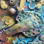 """Zdjęcie przedstawia fragment jednej z prac wykonanych na zajęciach plastycznych """"Punkt Sztuki"""""""