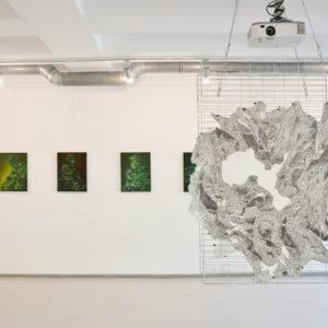 Zdjęcie przedstawia prace Natalii Rybki w Galerii Przytyk