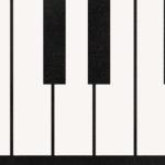 grafika klawiszy pianina białych i czarnych