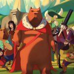 """Grafika z filmu animowanego """"Słynny najazd niedźwiedzi na Sycylię"""" przedstawiająca bohaterów filmu"""