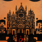 Zdjęcie przedstawia grafikę Jana Nowaka z katedrą
