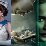"""zdjęcia z seriali """"The Crown"""", """"Wychowane przez wilki"""" oraz """"Ratched"""""""
