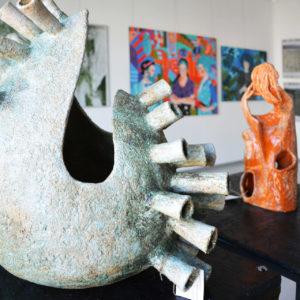 zdjęcie rzeźby z wystawy ZSAP