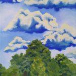 zdjęcie obrazu przedstawiające krajobraz chmury i las